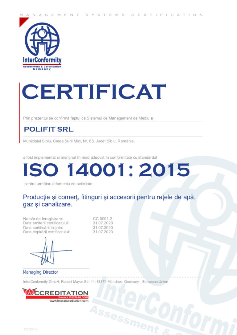 ISO 14001 POLIFIT